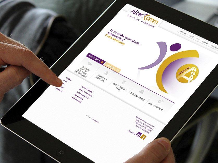 Alter Comm - Logo, sito, immagine coordinata