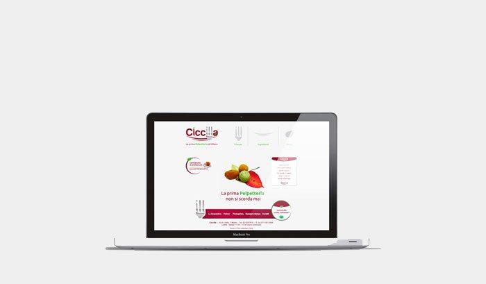 Ciccilla - Logo, sito, materiale pu8nto vendita, comunicazione