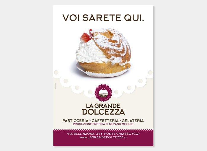 Pasticceria La Grande Dolcezza - Naming, logo, materiale p.v.