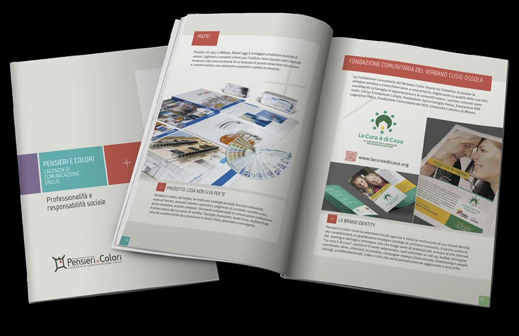 Brochure Pensieri e Colori, L'Agenzia di Comunicazione onlus