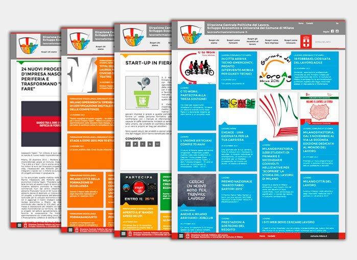 Sito web - Direzione Centrale Politiche per il Lavoro Comune di Milano