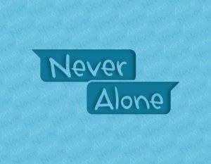 Pittogramma logo Never Alone per Fondazione Cariplo