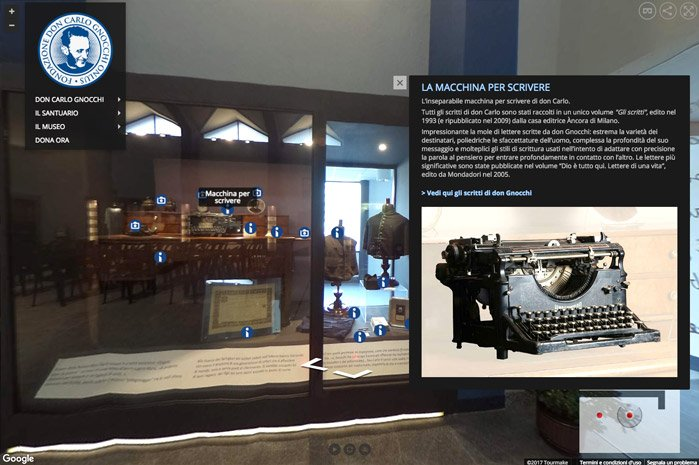 Tour Virtuale Museo Don Gnocchi vetrina